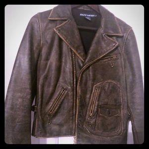 Lauren Ralph Lauren motorcycle genuine leather!